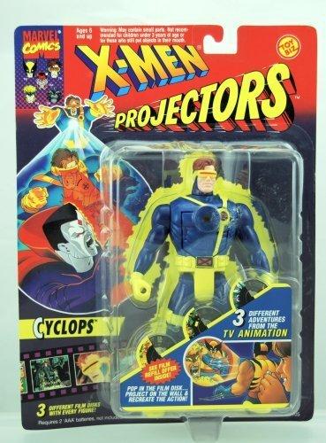 X-Men Projectors - Cyclops Action Figure - RARE - 3 Different Film Disks - 1994 - Toy Biz - Marvel - Limited Edition - Mint - Collectible