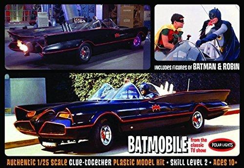 Polar Lights 1966 Batmobile with Batman and Robin Figures Model Kit by Polar Lights