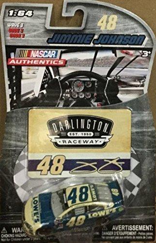 2015 Darlington Retro Paint Scheme NASCAR AUTHENTICS 48 JIMMIE JOHNSON LOWES 164 164 SCALE DIECAST RACE CAR With Collector Card
