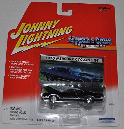 1970 Mercury Cyclone GT Black - Muscle Cars USA - Johnny Lightning - Diecast Car
