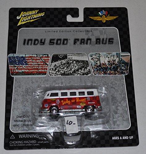 Volkswagon Indy or Bust Van - Indy 500 Fan Bus - Johnny Lightning - Diecast Car