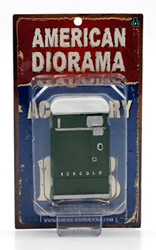 1 Piece Vending Machine Accessory Diorama Green For 118 Scale Models by American Diorama 23981G