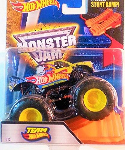 Hot Wheels Monster Jam 164 Scale Truck with Stunt Ramp - Team Hot Wheels 12