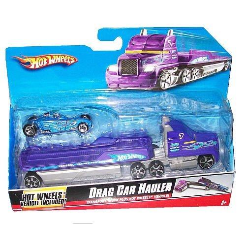 Hot Wheels Truckin Transporters 164 Scale Truck - Drag Car Hauler