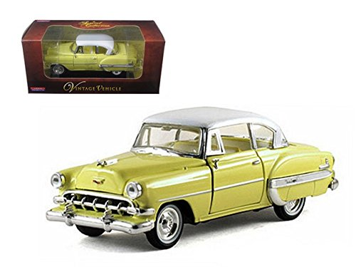 Arko 35411y 1954 Chevrolet Bel Air Yellow 1-32 Diecast Car Model