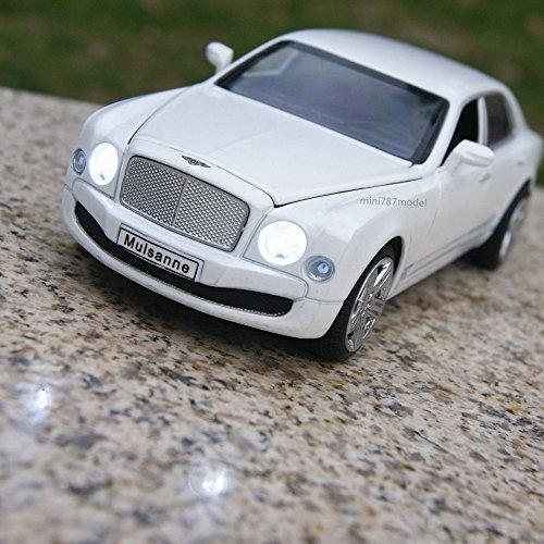Bentley Mulsanne Alloy Diecast 132 Car Model Sound Light Collection Vehicles