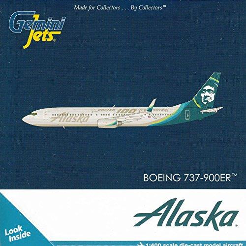 Gemini Jets Alaska B737-900ER 100 Years of Boeing 1400 Scale Airplane Model