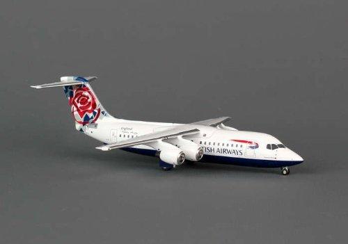 AVIATION200 1-200 Scale Model Aircraft AV2146009 AVIATION200 British Airways BAE146 1-200 Chelsea Rose G-BZAV by Aviation Models