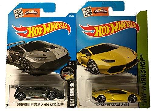 Hot Wheels 2016 HW Lamborghini Huracan LP 620-2 Super Trofeo Lamborghini Huracan LP 610-4 2-Car Bundle Set