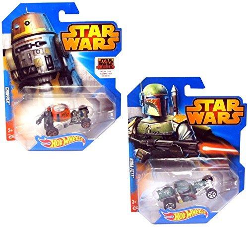 Star Wars Hot Wheels Car Set - Boba Fett and Chopper