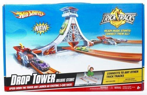 Mattel Hot Wheels Trick Tracks Drop Tower Deluxe Stunt by Hot Wheels