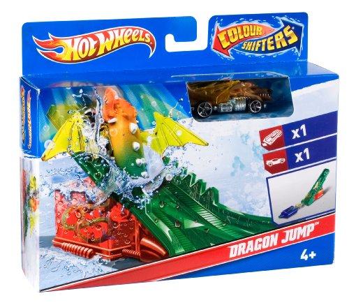 Hot Wheels Color Shifters Creatures Dragon Jump Playset