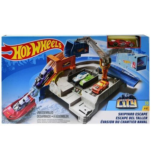Hot Wheels Mattel City Shipyard Escape Set
