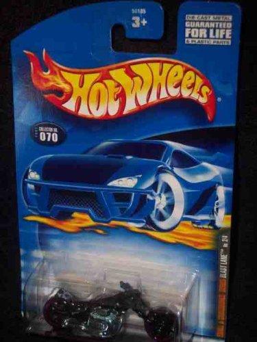 Hot WheelsMattel Wheels - Skull and Crossbones Series - 2 of 4 - Blast Lane Replica Motorcycle - Collector 2001070 - 164 Scale