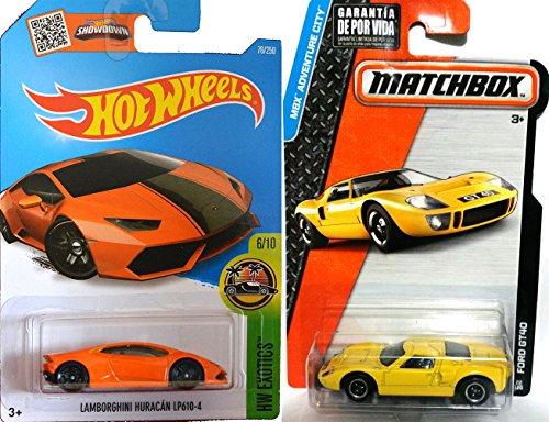 Lamborghini Hot Wheels Matchbox Ford GT40 2 Car Exotic Set Huracan LP610-4 76 2016 22 Adventure City Speed Team