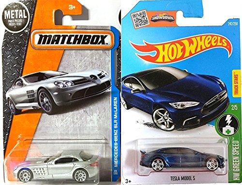 Mercedes-Benz SLR McLaren Silver Matchbox 29 Tesla Model S Set Hot Wheels Blue 2016 HW Green Speed Adventure City PROTECTIVE CASES