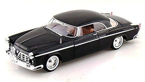1955 Chrysler C300 Black - Motormax Premium American 73302 - 124 Scale Diecast Model Car