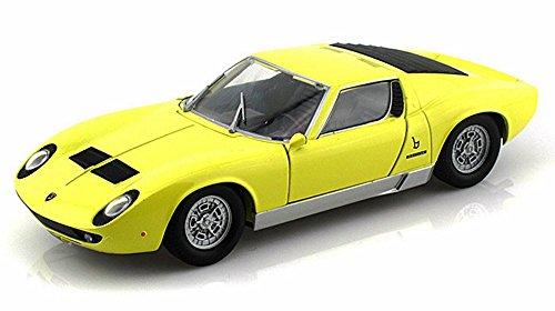 Lamborghini Miura P 400 S Yellow - Motormax 73368 - 124 Scale Diecast Model Car