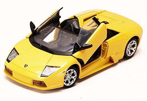 Lamborghini Murcielago Roadster Yellow - Motormax 73316 - 124 scale Diecast Model Toy Car