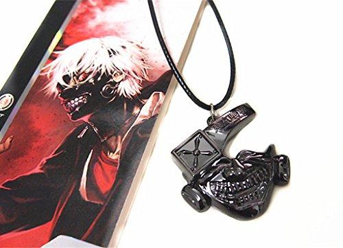 Anime Tokyo Ghoul Kaneki Ken Cosplay Mask Toy Metal Necklace Pendant New