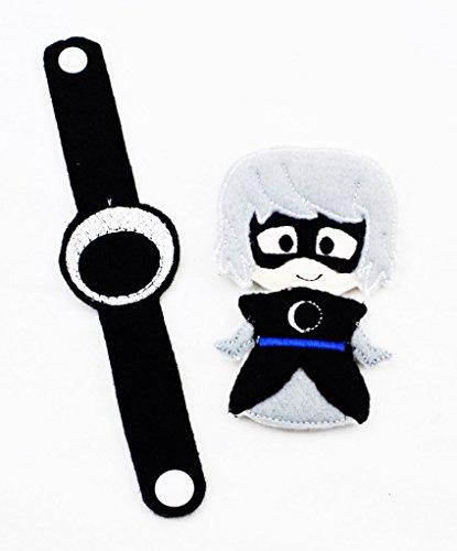 PJ Mask Themed LUNA GIRL Toy Bracelet and Finger Puppet Villain