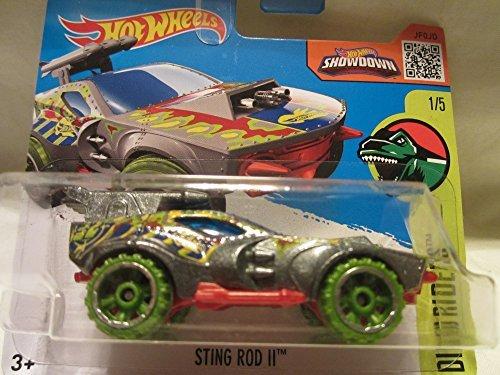 2016 Hot Wheels Dino Riders Sting Rod II 15 Short Card