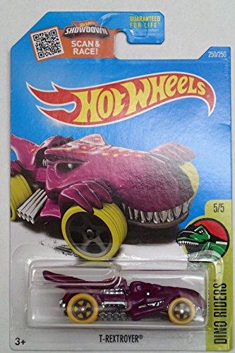 2016 Hot Wheels Dino Rides 55 Regular Treasure Hunt T-Rextroyer