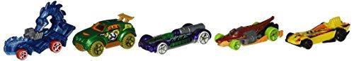 Hot Wheels Dino Riders 5 pack Dinosaur Diecast Vehicle Set by Hot Wheels