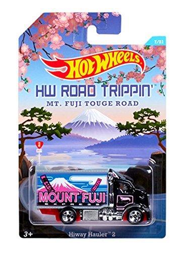 Hot Wheels Road Trippin Series - MT Fuji Touge Road - Mount Fuji Express Highway Hauler 2 - 7 of 21 Black Col by Hot Wheels