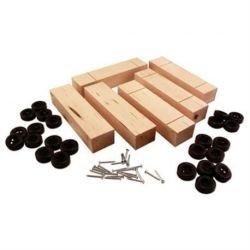 Pinecar P4051 Basic Block wWheels Axles Bulk 6
