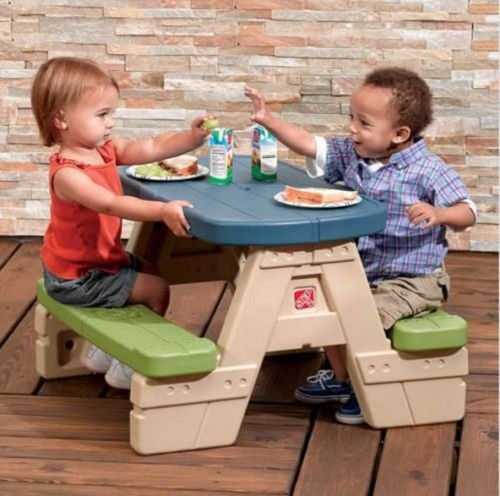 Generic O-8-O-3793-O mbrella Play Table Outdoor r Bench PIcnic Toddlers able Ou Kids Table dlers P Bench Umbrella Set irs PIc And Chairs HX-US5-16Jun6-160