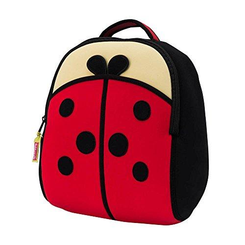 Dabbawalla Bags Cute as a Bug Ladybug Kids Preschool Toddler Backpack RedBlack