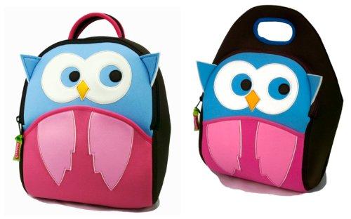 Dabbawalla Bags Hoot Owl Kids Preschool Toddler Backpack and Lunch Bag Set