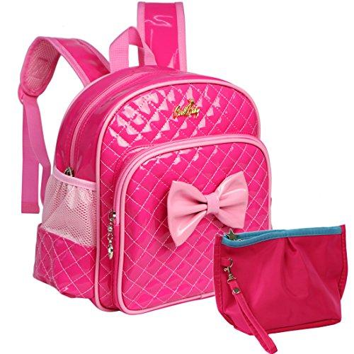 kilofly Kids Preschool Kindergarten Little Girl School Backpack  Zippered Pouch