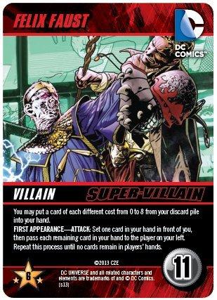 Felix Faust Super Villain DC Comics Deck Building Game Promo
