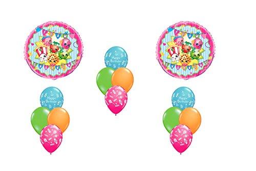 Happy Birthday Shopkins Mylar Latex Balloon Bouquet