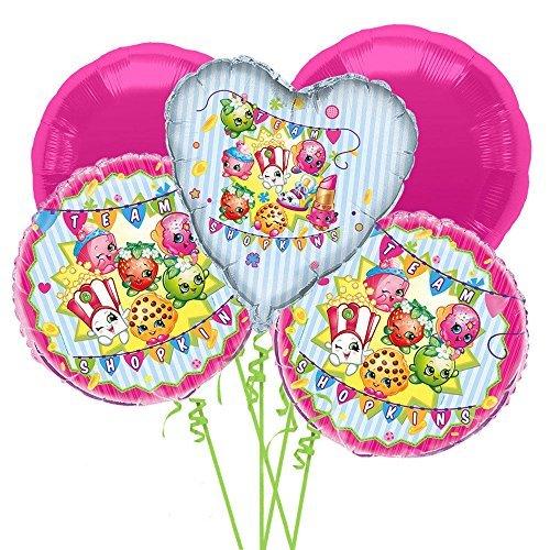 Shopkins Balloon Bouquet 5 pcs - Party Supplies
