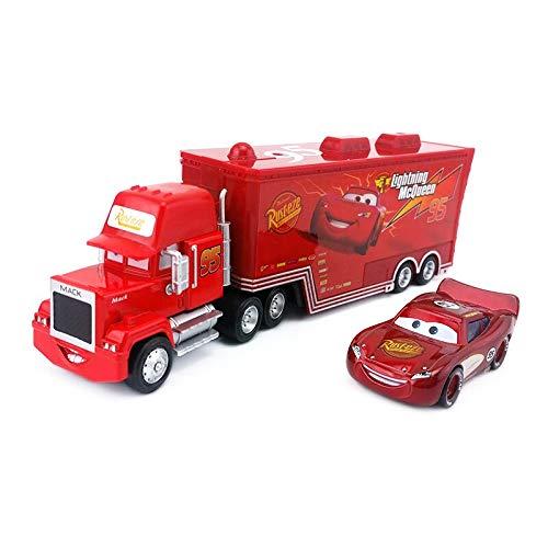 Disney Disney Pixar Cars No95 Mack Racers Truck Lighting McQueen Metal Diecast Toy Car 155 Loose Kids Boy Gift