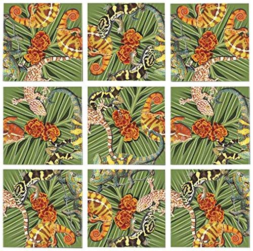 B Dazzle Lizards Scramble Squares 9 Piece Puzzle