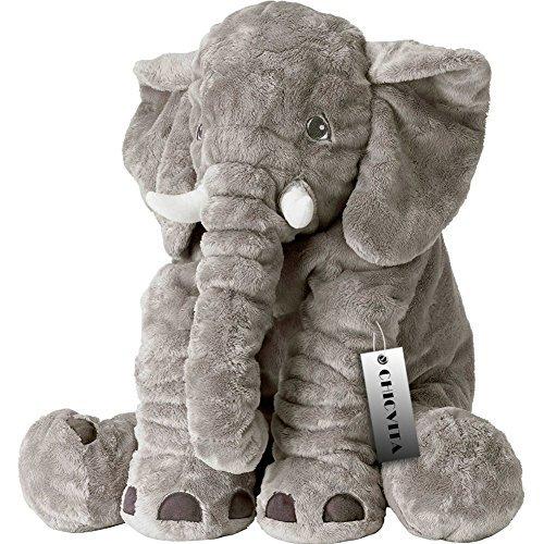 CHICVITA Stuffed Elephant Pillow Baby Toys Plush Pillows