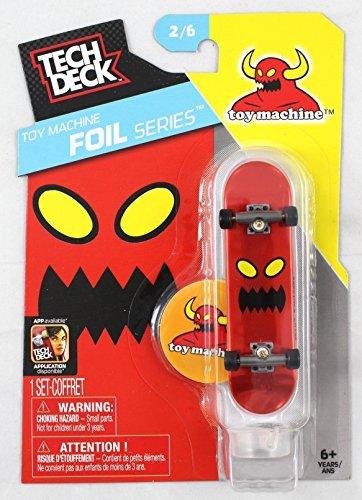 1 TECH DECK 96mm FINGERBOARD - TOY MACHINE BOARD Foil Series 26 - New by Toy Machine