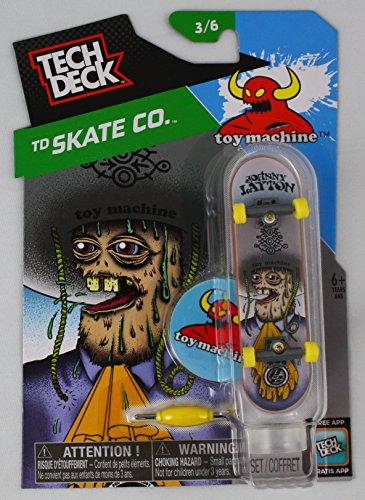 1 TECH DECK 96mm FINGERBOARD - TOY MACHINE BOARD Skate Co 36 - New