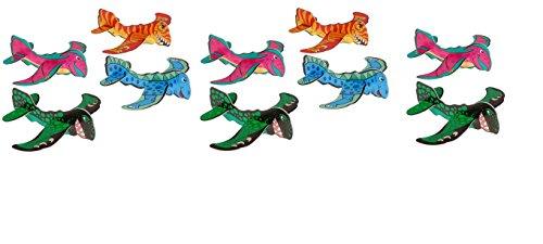 2 Dozen DINOSAUR Foam Gliders ~ 24 Airplane Gliders ~ 6 Fun DINO Birthday Party Favors ~ Prize Fairs Carnivals Summer Parties Parades Fundraisers ~ School Reward Bucket