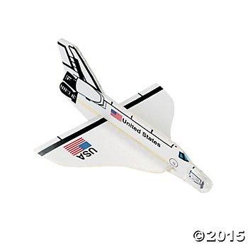 2 Dozen 24 US Space Shuttle FOAM Gliders - PARTY FAVORS - USA United States - Rocket