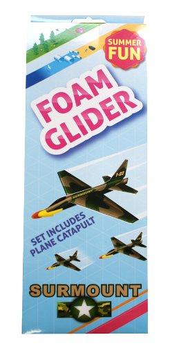 Foam Glider Plane Catapult Kids Party Bag Filler Propeller Gliders Fun Launcher