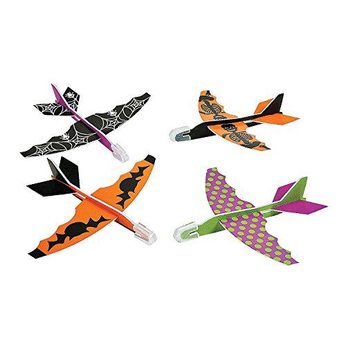 Fun Express Halloween Foam Glider Assortment Airplane Vehicle Pack of 8