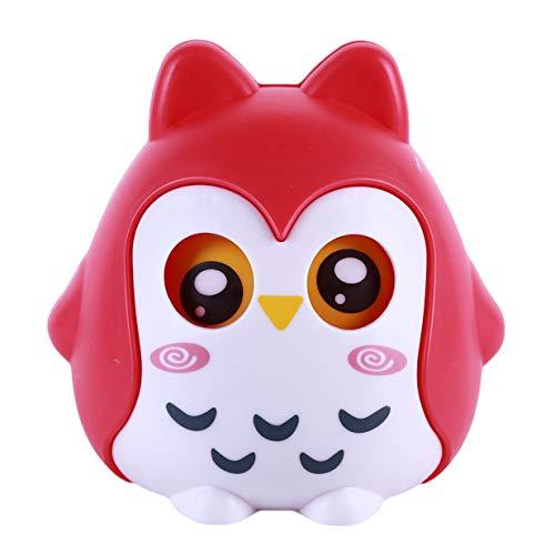 LALANG Cute Animal Owl Plastic Piggy Bank Coin Money Bank Saving Box Novelty Toysred