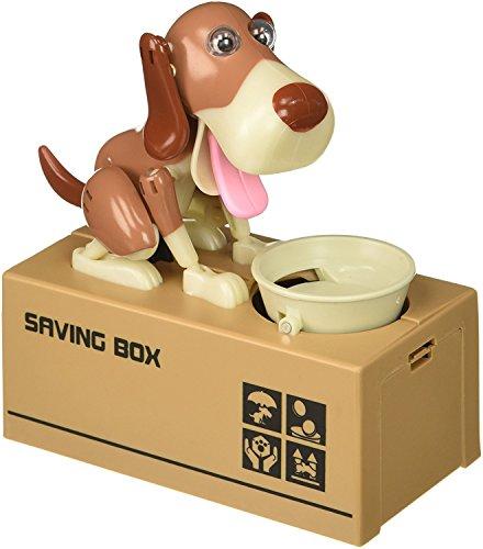 My Dog Piggy Bank - Robotic Coin Munching Toy Money Box - Yellow