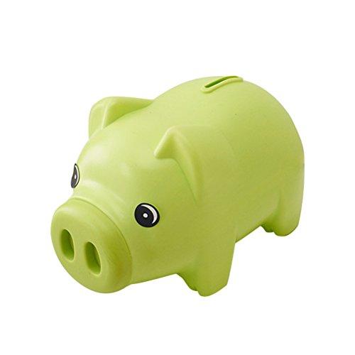 TOYMYTOY Plastic Piggy Bank Coin Saving Pot Cash Collectible Saving Box Pig Toys Green