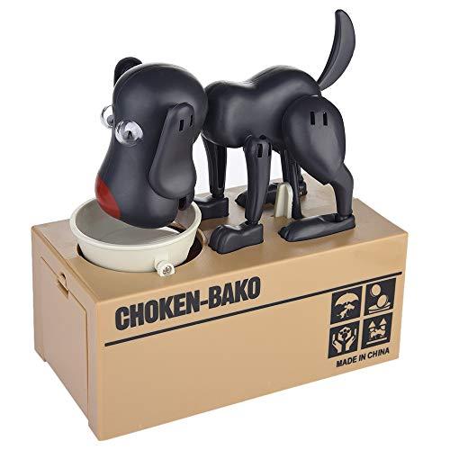 UPDD My Dog Piggy Bank - Cute Hungry Puppy Dog Money Box - Robotic Childrens Bank - Coin Munching Toy Saving Money Box Black